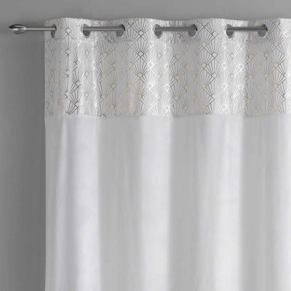 rideau tamisant 140 x 240 cm graphigold blanc