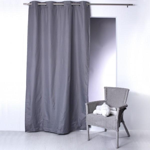 rideau occultant isolant thermique 140 x 240 cm husky gris fonce