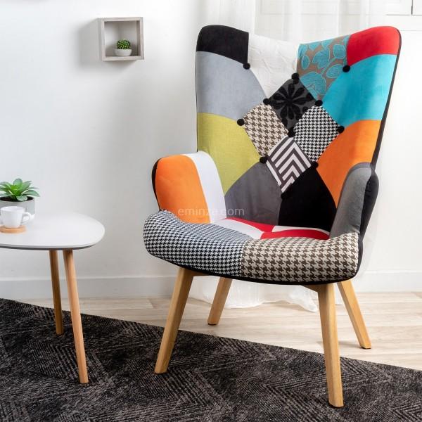 fauteuil helsinki scandi multicolore