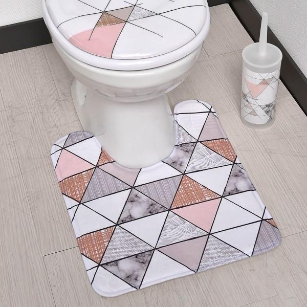 tapis contour wc marbre gris