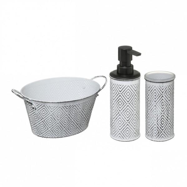 kit d accessoires de salle de bain ethnique noir
