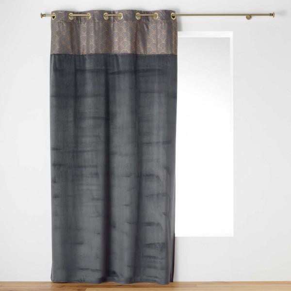 rideau tamisant 140 x 240 cm duchesse gris anthracite