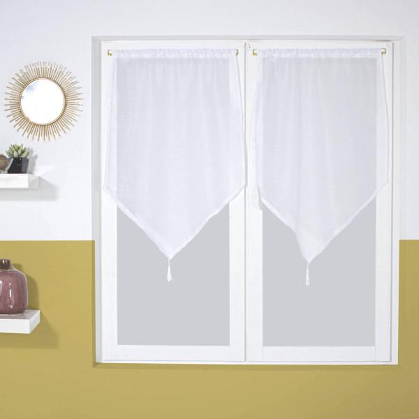 paire de voilages 60 x 120 cm dolly blanc