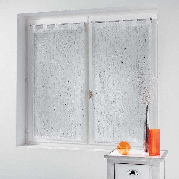 paire de voilages 45 x 120 cm filiane blanc