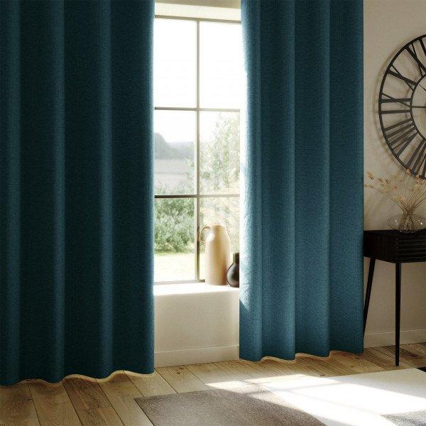 rideau occultant 140 x 260 cm total bleu canard