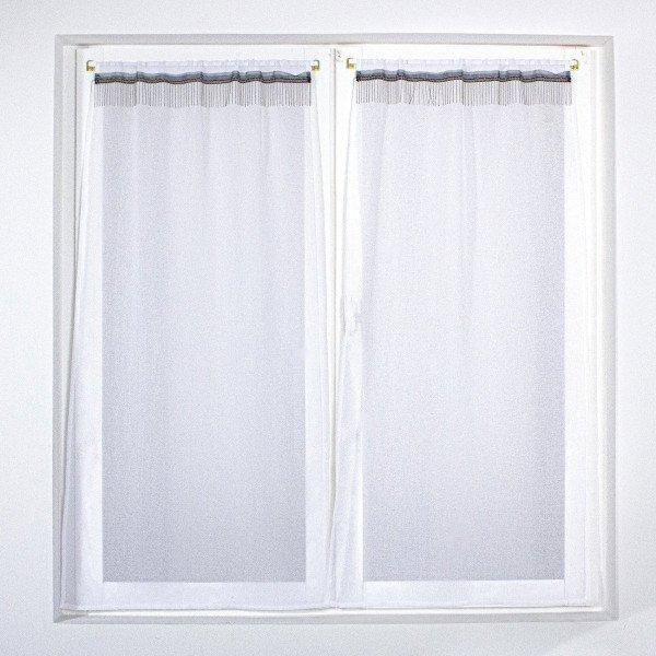 paire de voilages 60 x 120 cm shaadee blanc