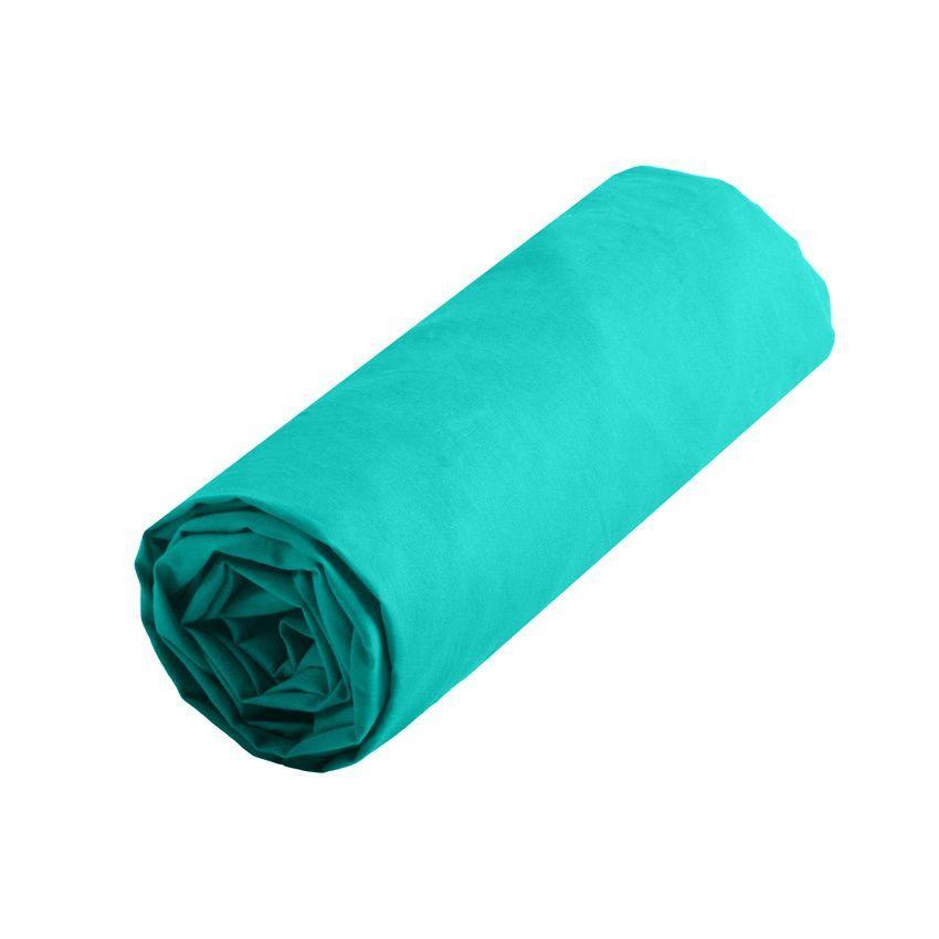 Drap Housse 160 Cm Confort Turquoise Drap Housse Eminza