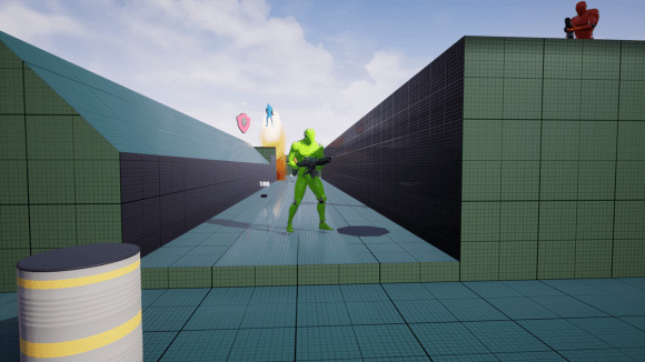 First-person shooter game framework screenshot
