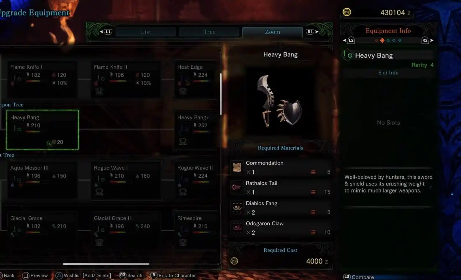 MHW Sword & Shield - Heavy Bang +