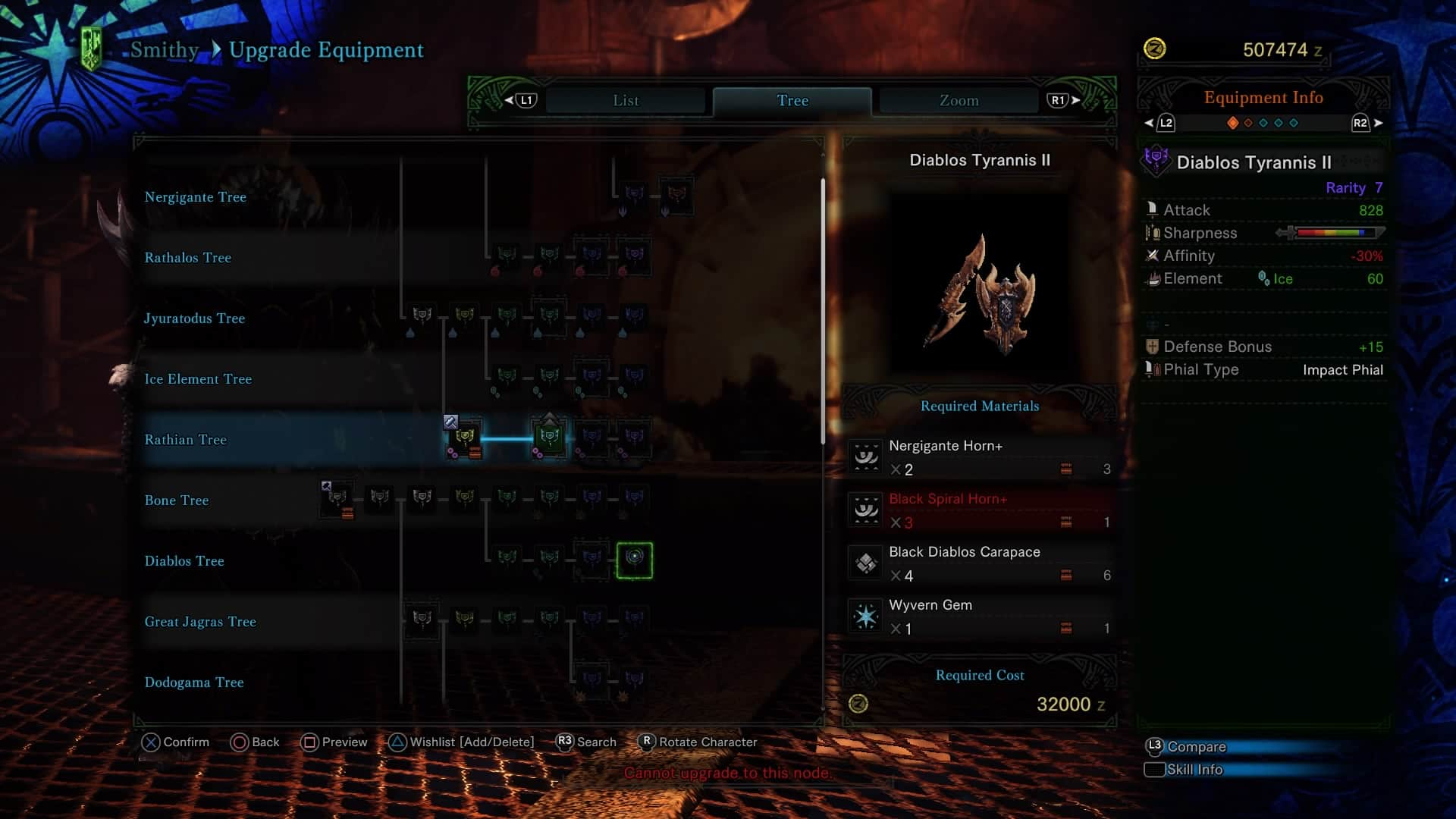 Monster Hunter World Charge Blade - Diablos Charge Blade