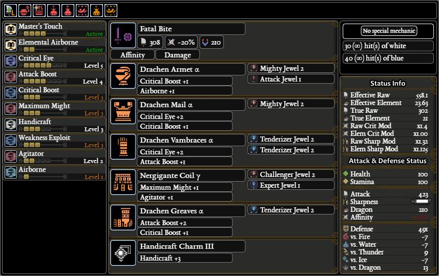MHW Meta builds SnS