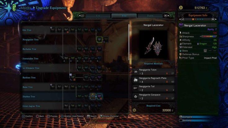 Monster Hunter World Charge Blades Nergigante 1