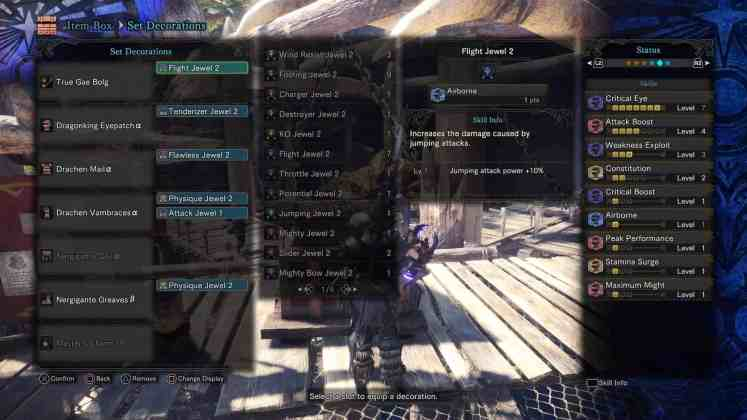 Monster Hunter World - Insect Glaive Armor Skills