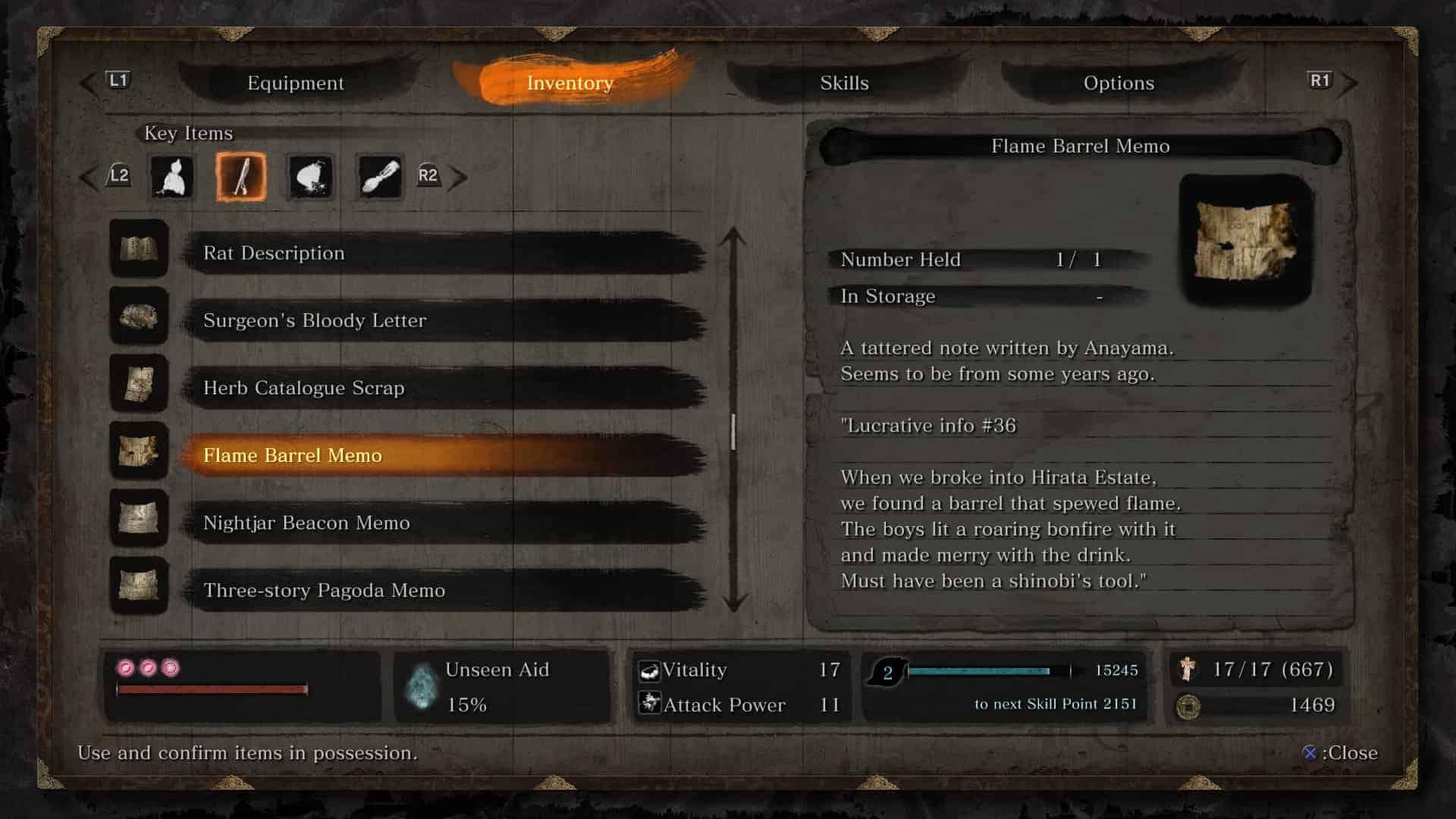 Sekiro - Flame Vent Guide