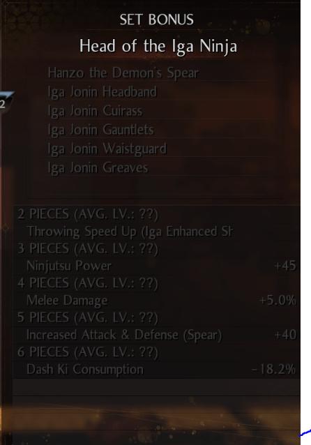 Nioh 2 Spear Build
