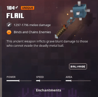 Minecraft Dungeons Flail Unique Mace