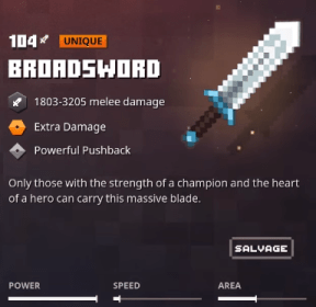 Minecraft Dungeons Broadsword