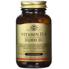 Solgar Vitamin D - 10,000 IU - 120 Softgels - eVitamins Philippines