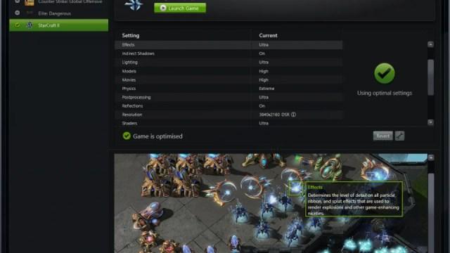 Nvidia GeForce GTX 950 - Nvidia Experience
