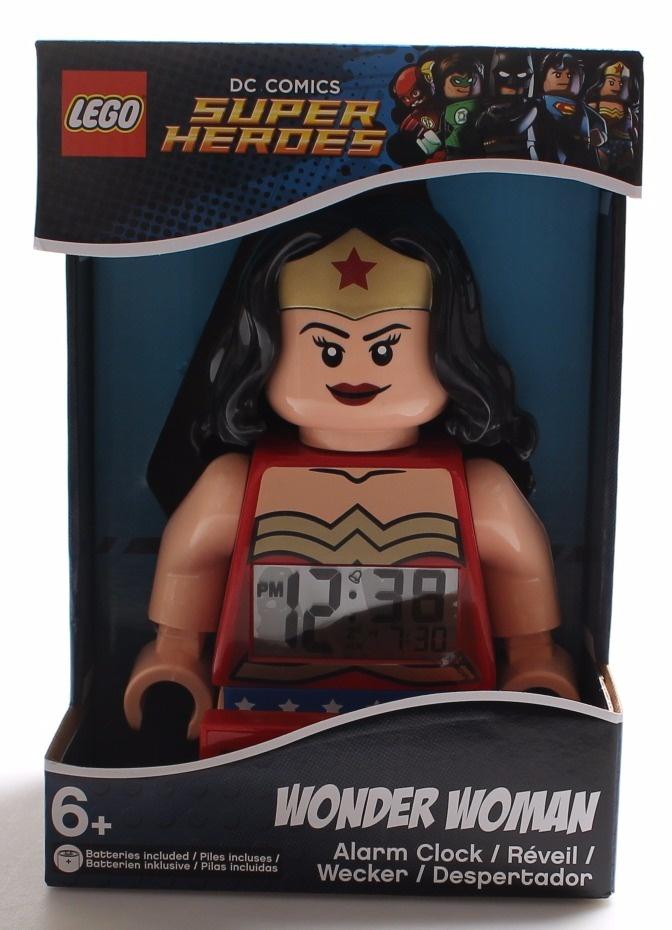 Lego Wonder Woman DC Comics Super Heroes Light Up Digital Alarm Clock 9009877