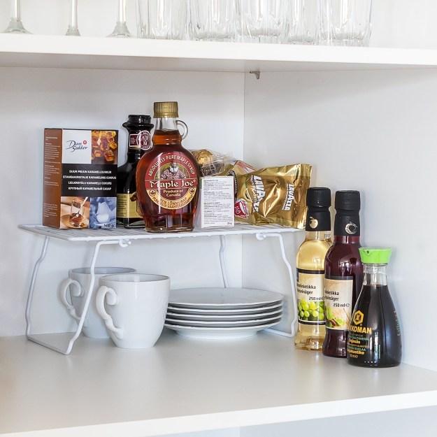 art moon support foldable kitchen cupboard organiser add-shelf