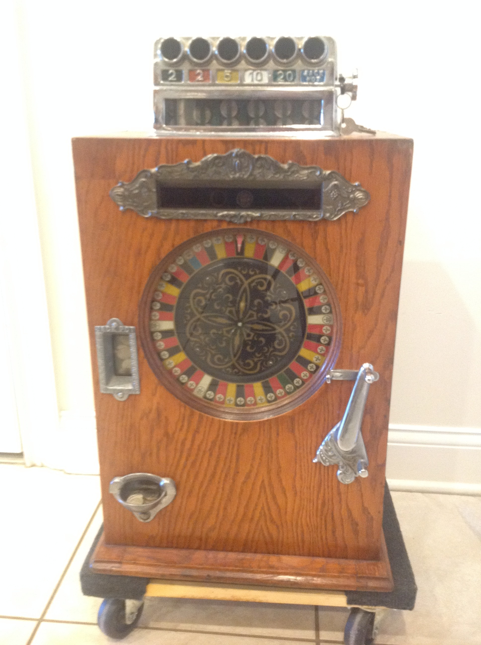 Watling Large Single Wheel Slot Machine Gameroom Show