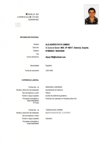 cv template for teaching english abroad