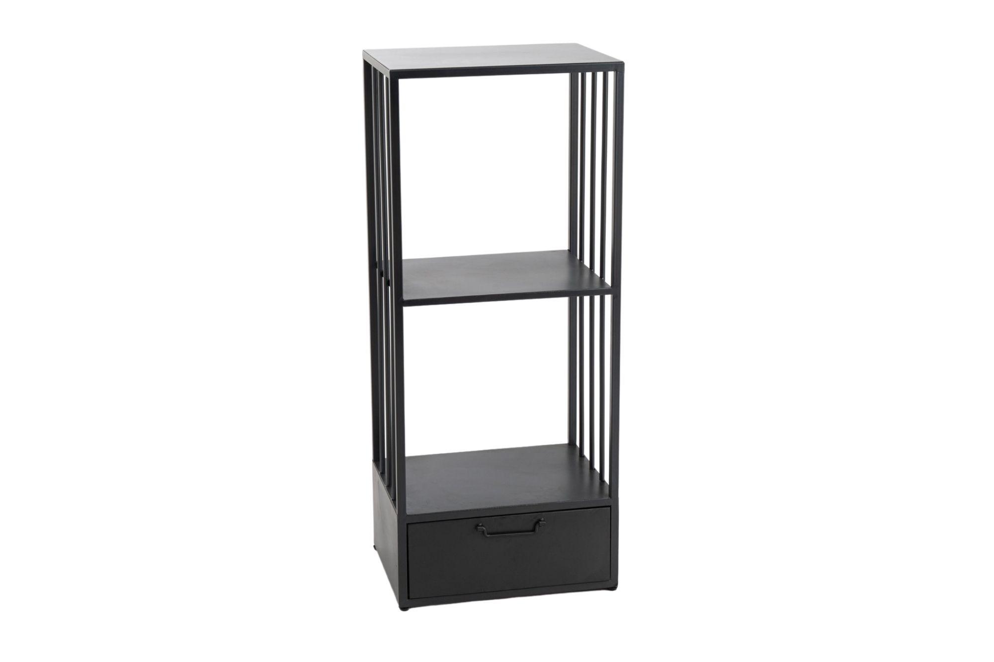 colonne de rangement moderne en metal noir rita hellin