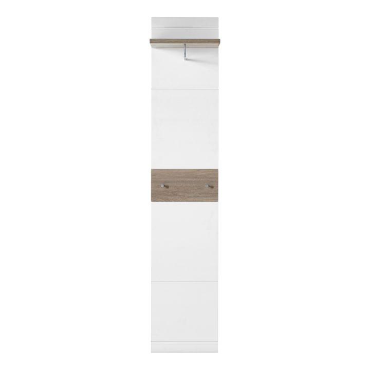 Wandgarderobe MALOU - Weiß / Eiche Nelson Dekor