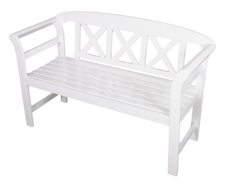Gartenbank AMBON - Weiß