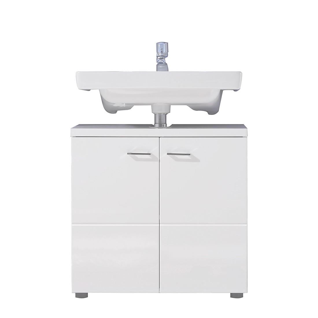 Badezimmer-Set STORM LIGHT - Weiß Hochglanz