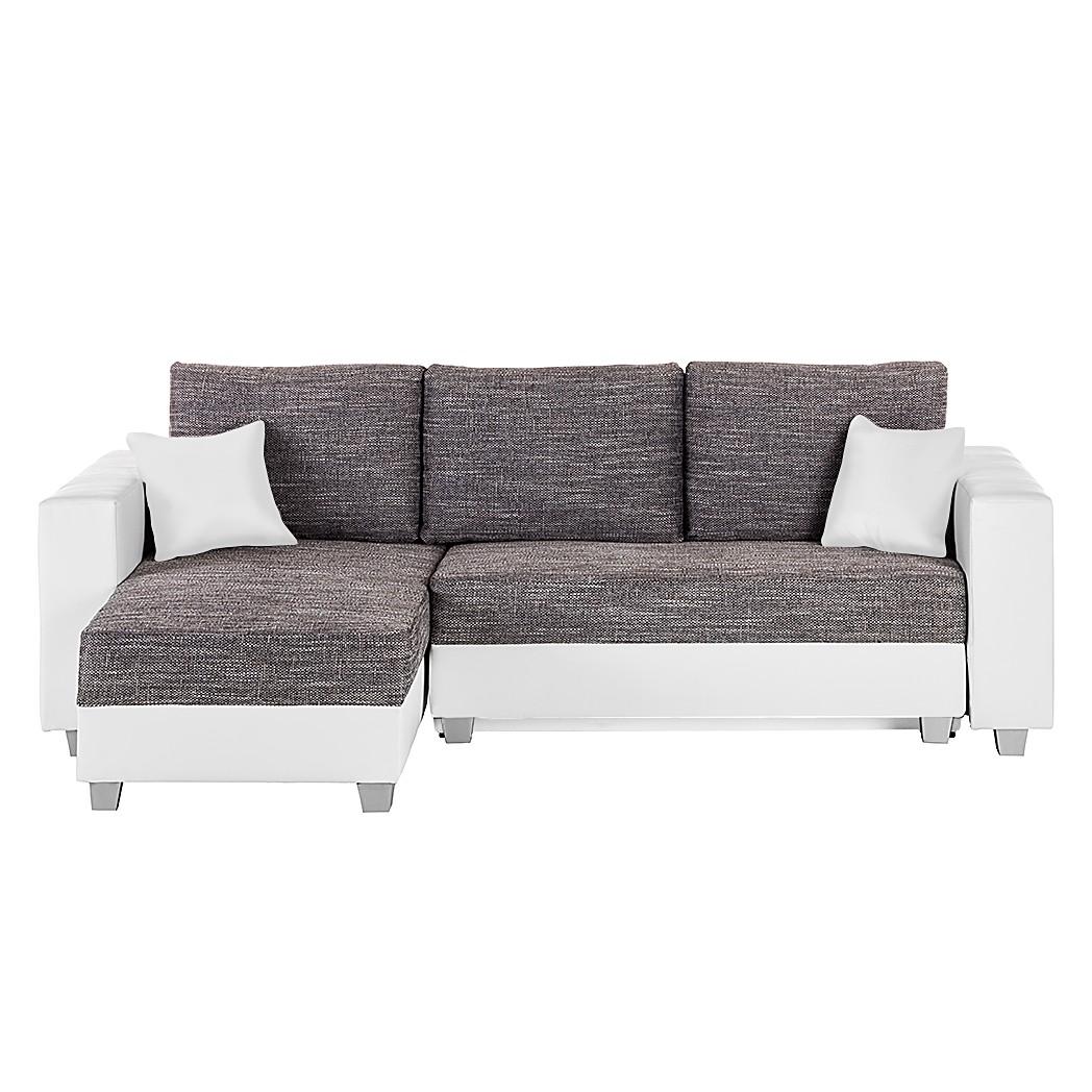 Ecksofa DUBLIN II - Weiß / Grau