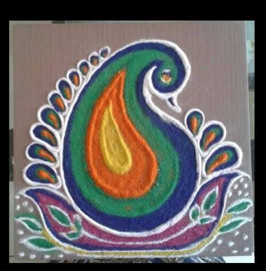 Free Hand Small Rangoli Designs