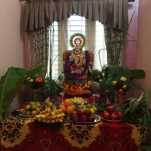 Pooja Room Decoration Ideas for Varalakshmi