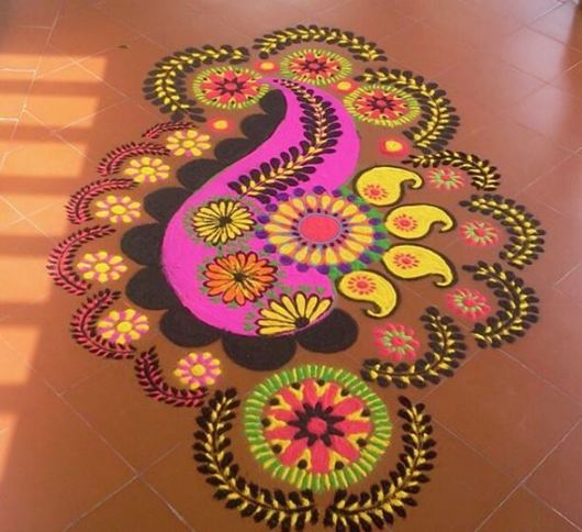 Kolam Rangoli Designs for Holi