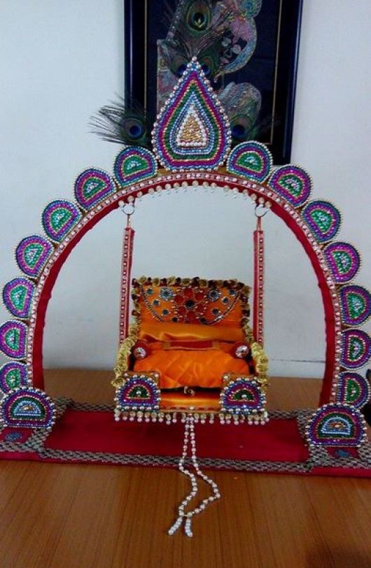Janmashtami Jhula Decoration Ideas