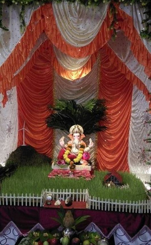 Ganpati Decoration Ideas at Home with Theme