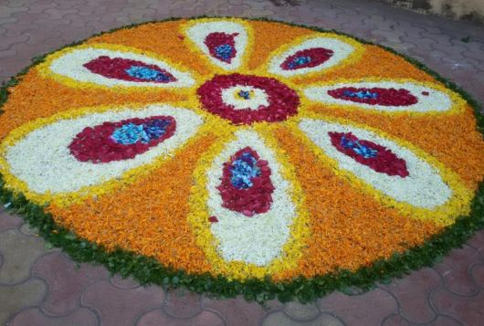 Flower Rangoli Designs for Competition