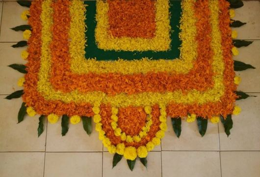 Flower Rangoli Designs