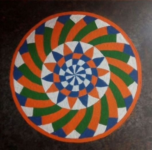 Independence Day and Republic Day Rangoli