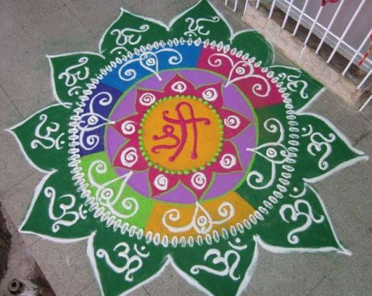 Easy Rangoli Designs without Dots