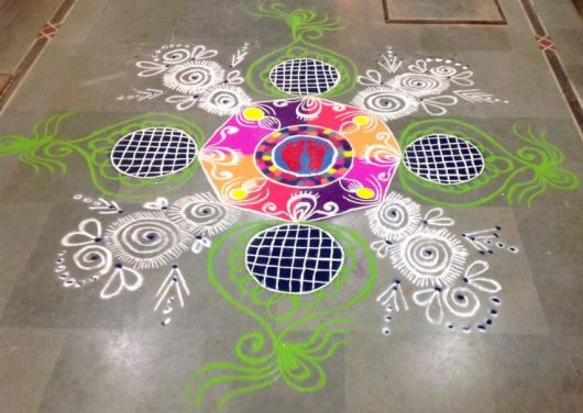 Rangoli Designs without Dots for Dussehra