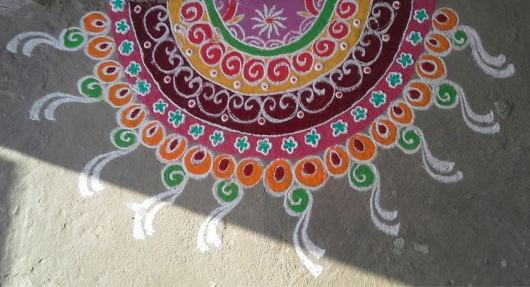 Rangoli with Sanskar Bharti Patterns