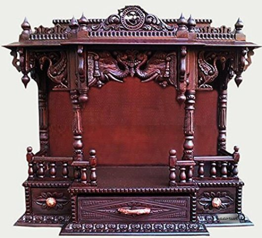 Pooja Room Mandir Designs in Wood