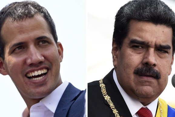 Image result for Nicolas Maduro and Juan Guaido