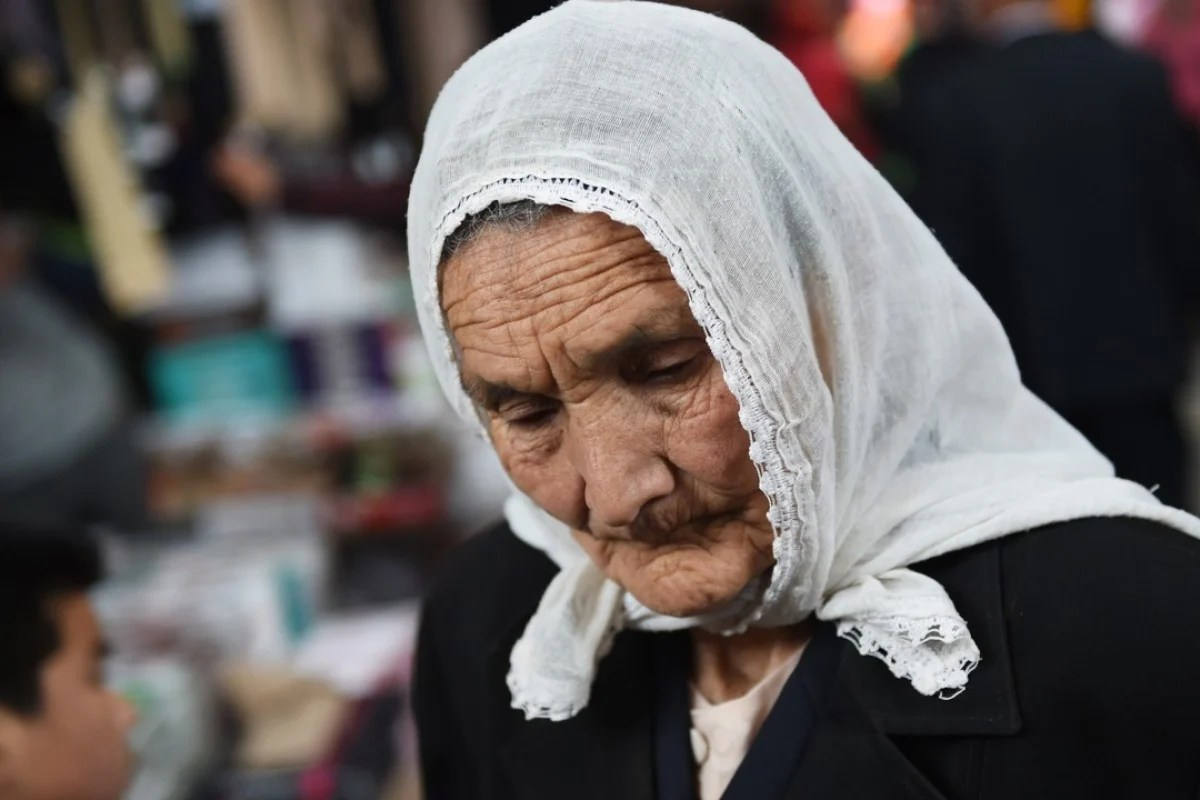 A Uygur woman at a bazaar in Kashgar, in China's western Xinjiang region. Photo: AFP