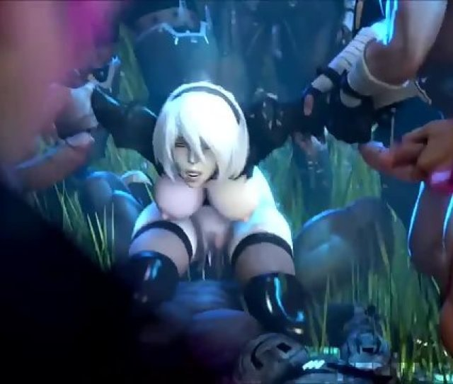 B From Nier Automata Gets Gangbanged After Warrior Battle