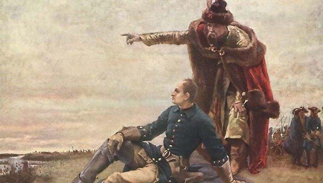 Карл XII и гетман Мазепа, картина шведского художника Густава Седерштрома. Архивное фото