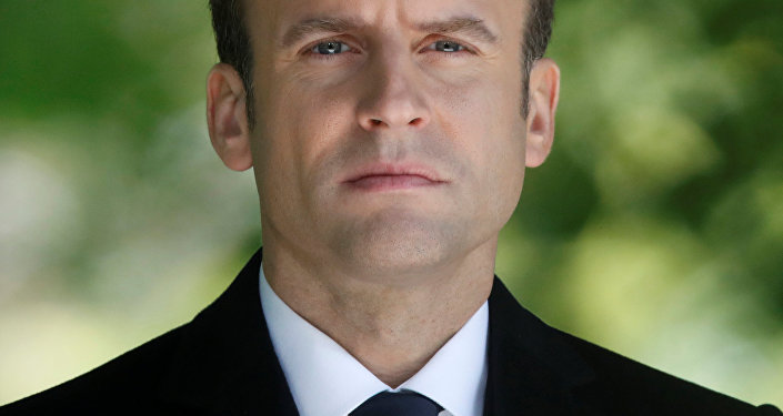 French President-elect Emmanuel Macron attends a ceremony at the Luxembourg Gardens to mark the abolition of slavery and to pay tribute to the victims of the slave trade, in Paris, France, May 10, 2017.