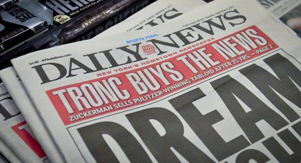The New York Daily News slashes half its staff.